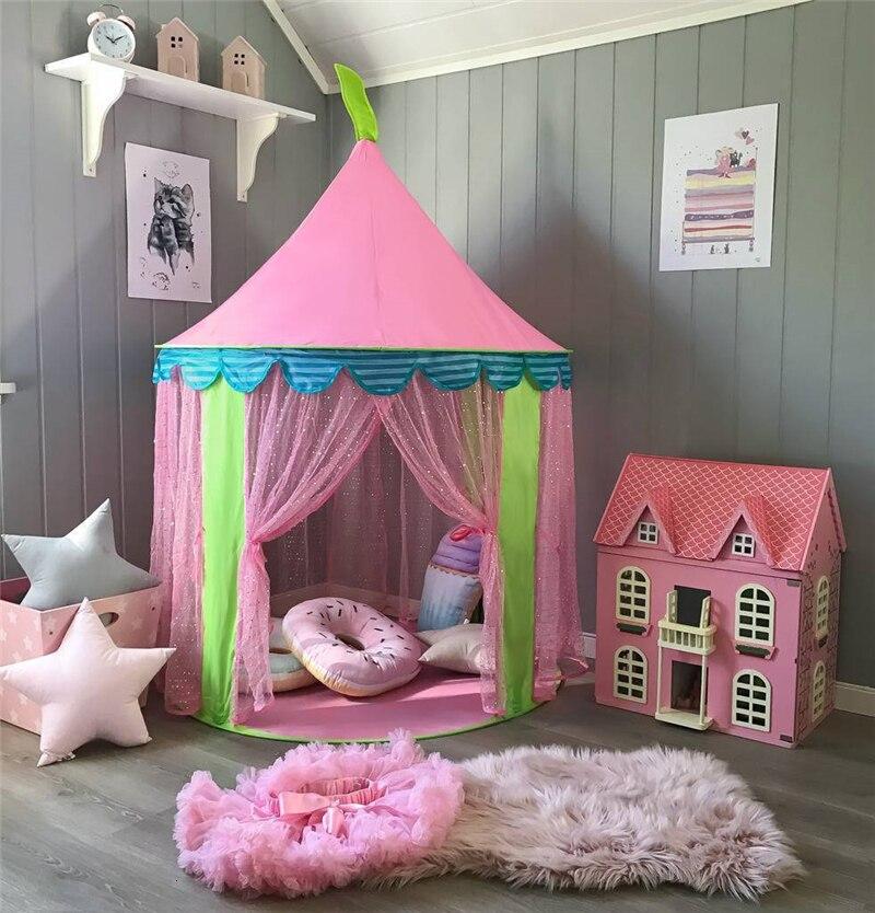 Детская палатка складные палатки игровой домик для детей игрушечный вигвам палатки для детей Tipi Infantil Крытый мяч яма Принцесса замок