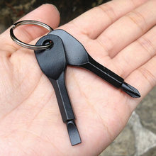 4 Sets Pocket Outdoor Tool Screwdriver Stainless Steel Keychain Key Ring Multi Tools &T8(China)