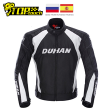 DUHAN Motorcycle Jacket Racing Moto Jacket Clothing with Five Protector Breathable Waterproof and Windproof Laminated Fabric