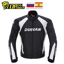 DUHAN veste de course de Moto, vêtements avec cinq protecteurs, en tissu stratifié respirant et coupe vent