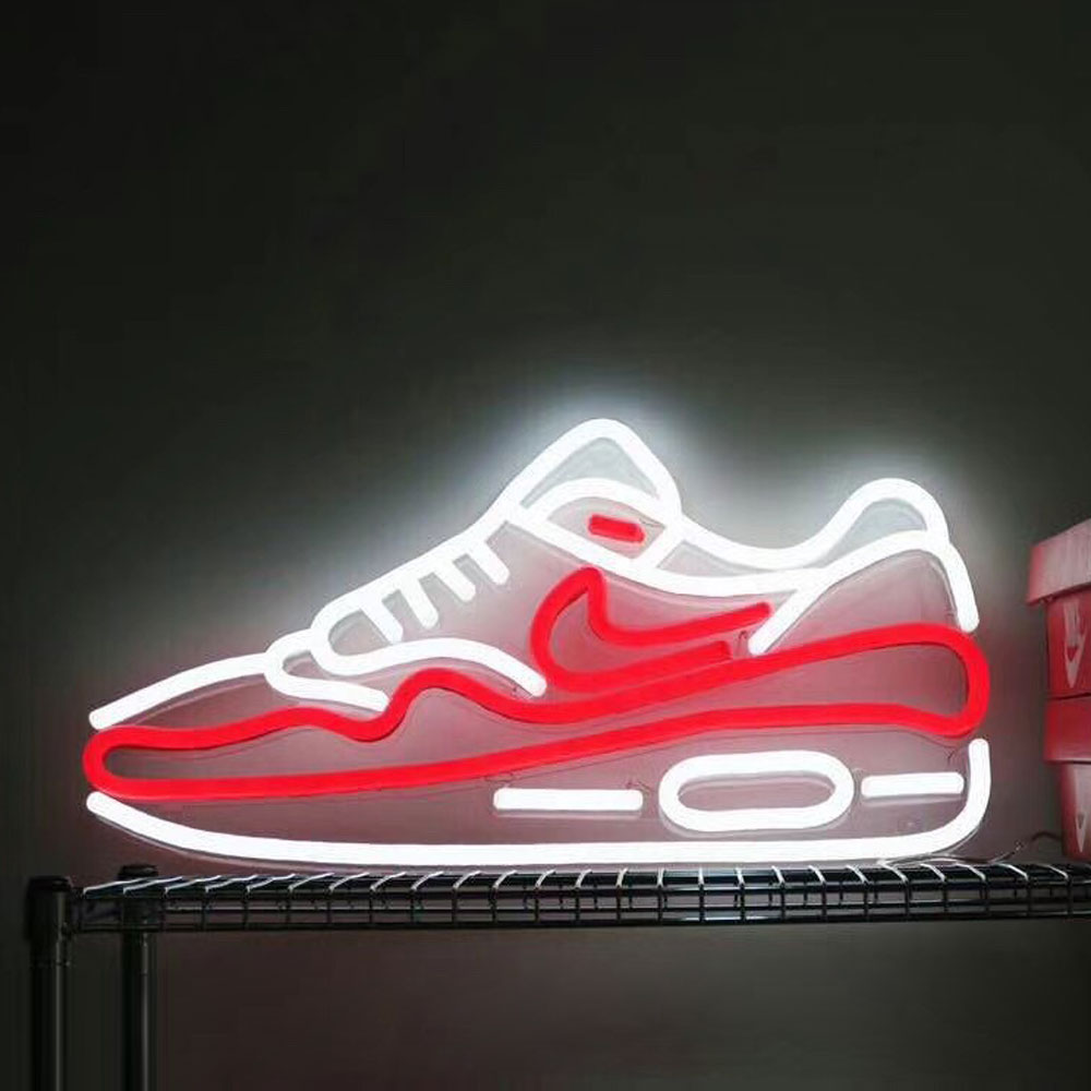 Factory Outlet Personalized Signs With Lights Shoes Neon Signs Neon Light Board Logo For Specialty Store