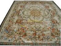 El dikişli Çiçek Needled Battaniye Antik Çin El yapımı Yün Müzesi Yün Kilim Halı|Halı|   -
