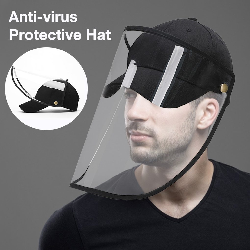 Protective Mask Anti-shock Face Windproof Dustproof Hat Full Face Protection Detachable Shield Screen Mask Anti-Dust Safety Mask