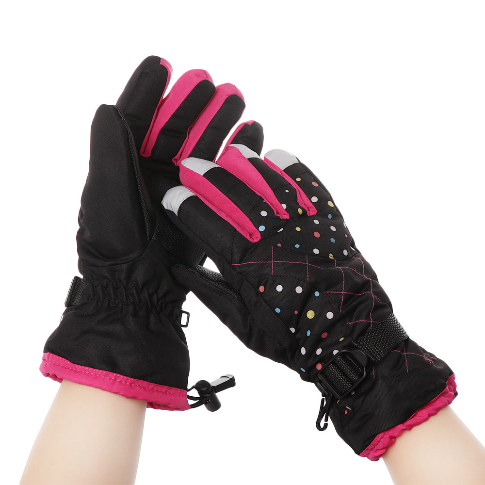 Waterproof Ski Gloves Men Women Warm Skiing Snowboard Gloves Snowmobile Motorcycle Riding Winter Velvet Knitted Skiing Gloves