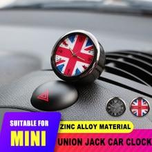 Interior do carro união jack tomada de ar relógio decoração para mini cooper jcw s f55 56 f60 r55 r56 r60 countryman para honda civic 10th