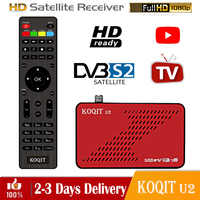 Koqit-receptor satélite u2 H.264 DVB S2, sintonizador de DVB-S2, internet de tv, decodificador, CA Sat, Biss, wifi, Youtube