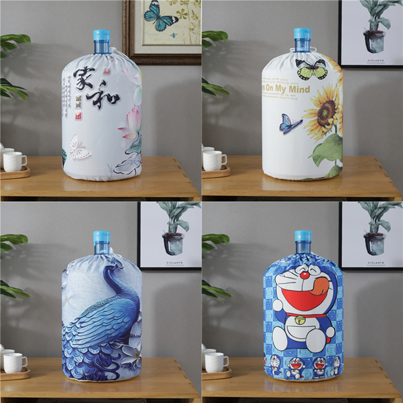 SRYSJS Printed  Cloth Art Drinking Fountains Barrels Water Dispenser Dust Cover Cartoon Animal Household Protector Cover