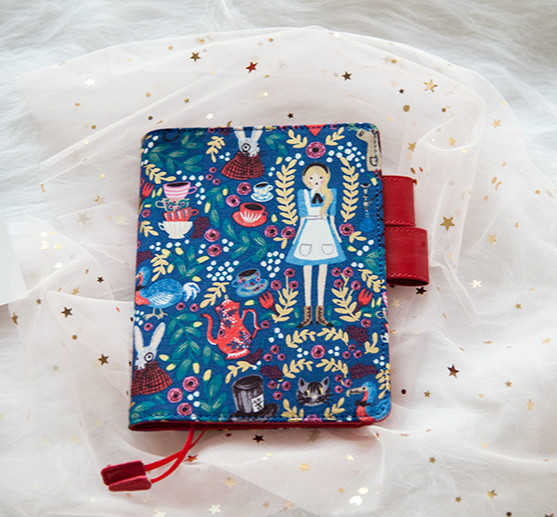 Blue Floral Fashion Wonderland Fashion Fitted Journal Cover Suit For Standard A6 Paper Book