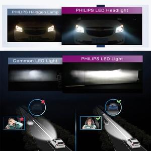 Image 3 - Philips LED 9005 9006 HB3 HB4 X treme Ultinon LED Del Faro Dellautomobile 6000K Bianco Auto Originale Lampade + il 200% Più Luminoso 11005XUX2, coppia