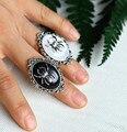 Готическое кольцо с пауком, викторианское стимпанк ювелирное изделие, регулируемое, кольцо-Камея паука, вечерние сувениры на Хэллоуин, мале...