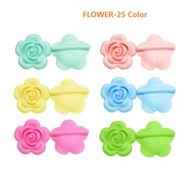 Baby Pacifier-Chain Beads Toy Silicone Rose-Flower Oral-Care Joepada Bpa-Free DIY 1pc