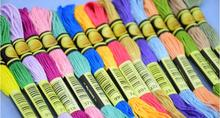 cxc two labels 10 pieces cross stitch threads  cross stitch embroidery thread Custom threads colors 07 tanie tanio XIANGYUANWU S SHOP-ZBYXZ CN(Origin) Dyed 0 02 Polyester Cotton Mercerized Knitting Crochet Weaving Hand Knitting Sewing