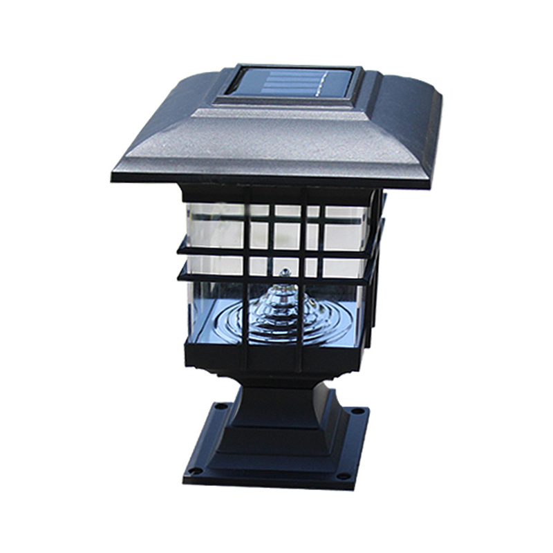 2019 Courtyard Solar Light LED Outdoor Waterproof Column Head Lamp Garden Decoration Safety And Energy Saving Wall Lamp