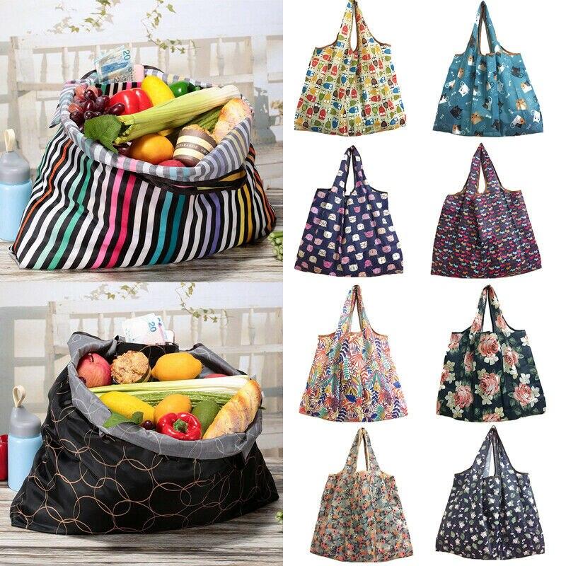 Fashion Women Shopping Bags Waterproof Folding Reusable Eco Shopping Travel Shoulder Bag Pouch Tote Handbag
