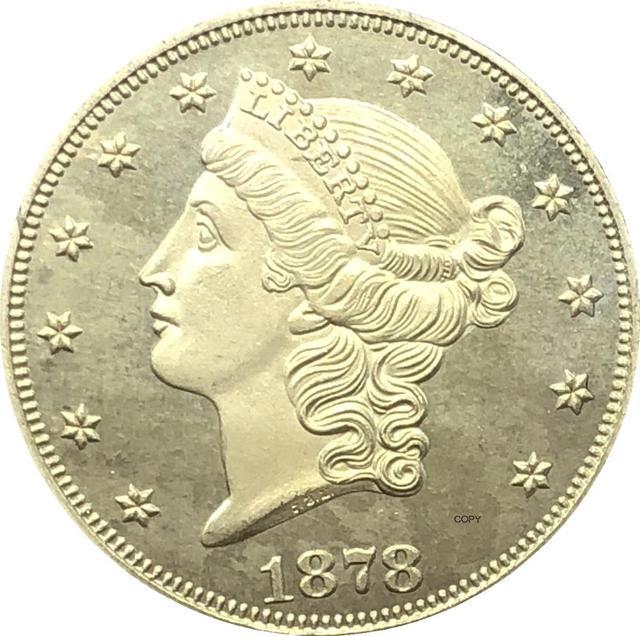 Копировальная монета США с девизом Double Eagle 1878 S 1879 S 1880 S 1881 S 1882 S 1883 S 1884 S 1885 S 1887 S 1888 S