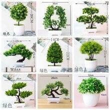 39Styles petit moyen grand vert plantes artificielles bonsaï plastique herbe boule pin arbre en pot bonsaï noël fête décor