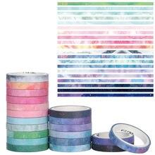 10/20 pièces/ensemble papier décoratif autocollant bricolage artisanat Scrapbook Journal fleur papier adhésif ruban de masquage ruban Washi