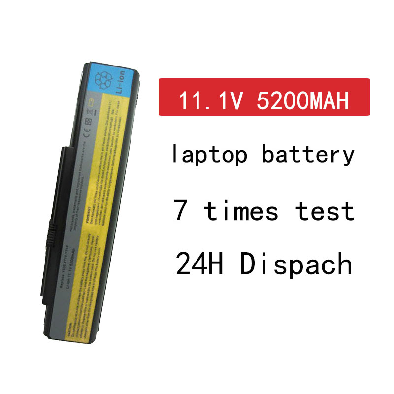 HSW 6cells Laptop Battery For Lenovo Ideapad 3000 Y500 Y510 V550 Y530 Y710 Y730 45J7706 ASM 121000649 FRU 121TS0A0A Bateria Akku