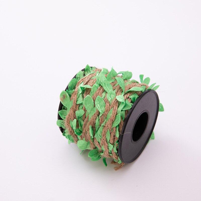 10 м/лот 5 мм Имитация листьев тканая пеньковая веревка diy