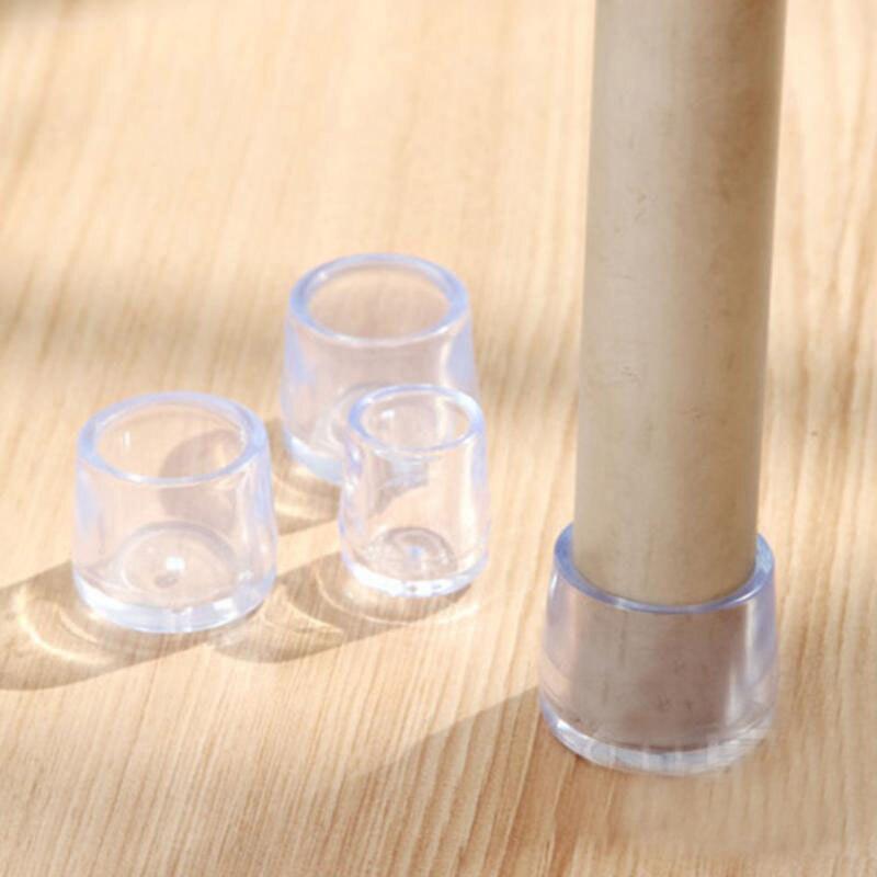 4 Buah/Set Kursi Leg Caps Kaki Karet Pelindung Bantalan Furniture Meja Mencakup Kaus Kaki Lubang Colokan Debu Cover Furniture Kaki Meratakan