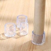 4 unids/set gorros de pierna de silla Almohadillas protectoras de pies de goma cubiertas de muebles para mesas calcetines tapones de agujero cubierta de polvo muebles nivelación pies