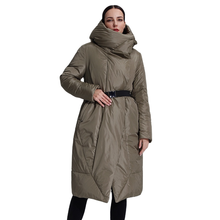 Long Parka Down-Jacket QUILTED Puffer-Clothes Large-Size Coat Outwear Hooded Female Women