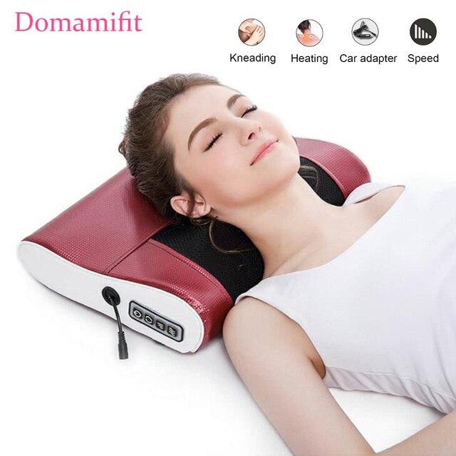 Neck Shoulder Back Body Electric Massage Pillow Infrared Heating Shiatsu Massager Device Cervical Healthy Massageador Relaxation