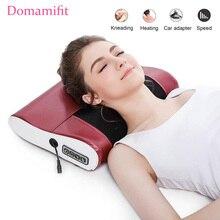 Pescoço ombro para trás do corpo massagem elétrica travesseiro de aquecimento infravermelho shiatsu dispositivo massageador cervical saudável massageador relaxamento
