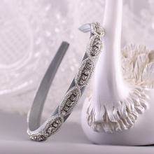 TRiXY S102-FG Baroque Hair Hoop Elegant Hair Bands Bridal Tiara for Wedding Rhinestone Headband Wedding Hair Accessories