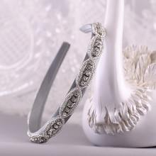 TRiXY S102-FG Baroque Hair Hoop Elegant Hair Bands Bridal Tiara for Wedding Rhinestone Headband Wedding Hair Accessories