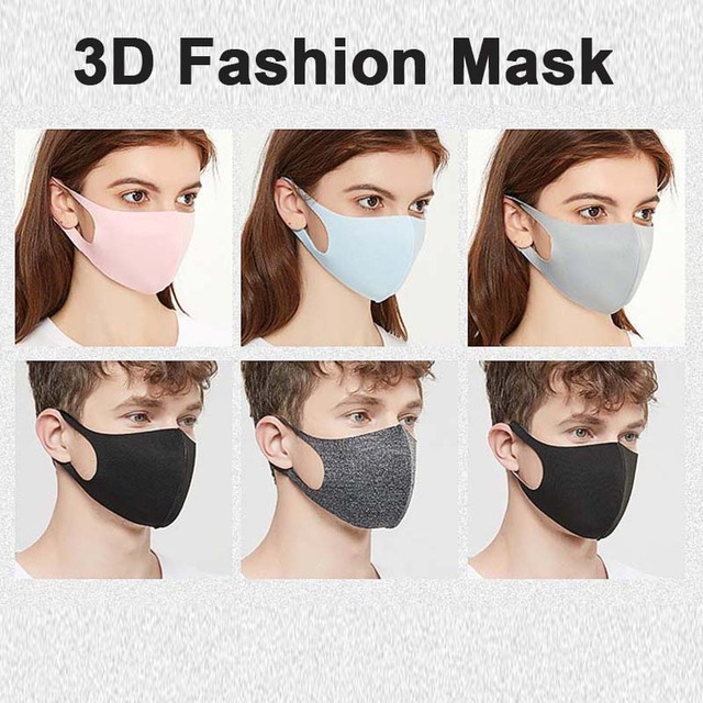 Kpop Cotton Black Mask Ice Silk Cotton mouth face Mask Anti dust Mouth Mask korean Mask Fabric Face Mask masque reutilizable 4