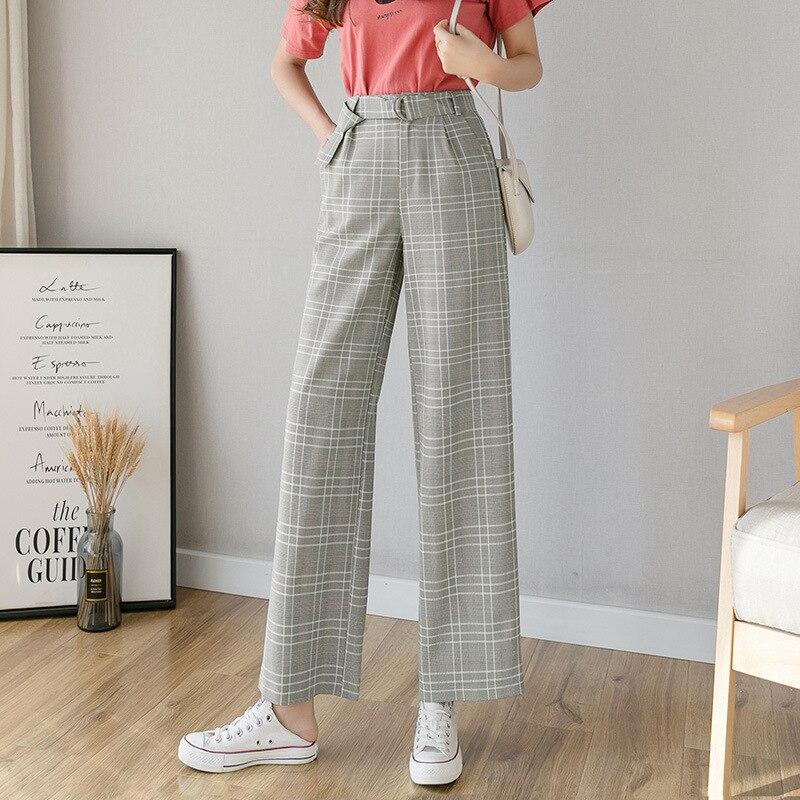Spring Summer New High Waist Thin Chiffon Wide Leg Pants Women's Loose Casual Pliad Pants Korean Pants Women