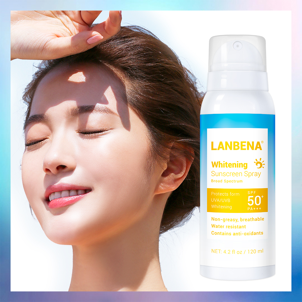 LANBENA Sunblock SPF 50PA+++ Brightening Spray Sunscreen Sunblock Breathable Effectively Against Radiation Water Resistant 120ml