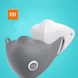 Image 5 - Xiaomi mijia AirPOP Air Wear PM0.3 / pm2.5 антидымчатая маска для лица с 2 шт фильтром регулируемые Висячие удобные маски для лица