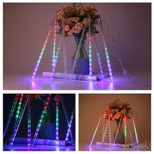Waterproof Meteor Shower Rain Tubes Solar Led Light Lamp String Lights For Indoor Outdoor Garden Wedding Party Decoration Tree цена 2017