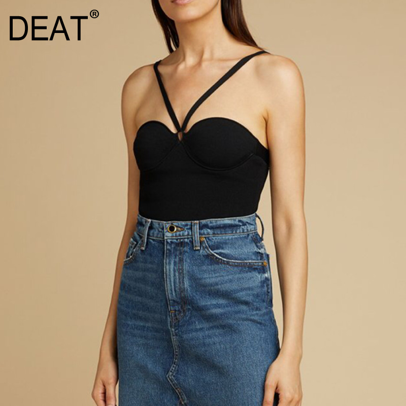 DEAT 2020 new summer runway styles fashion women clothes halter collar breast bra sexy bodysuit outfits tide WL72301L