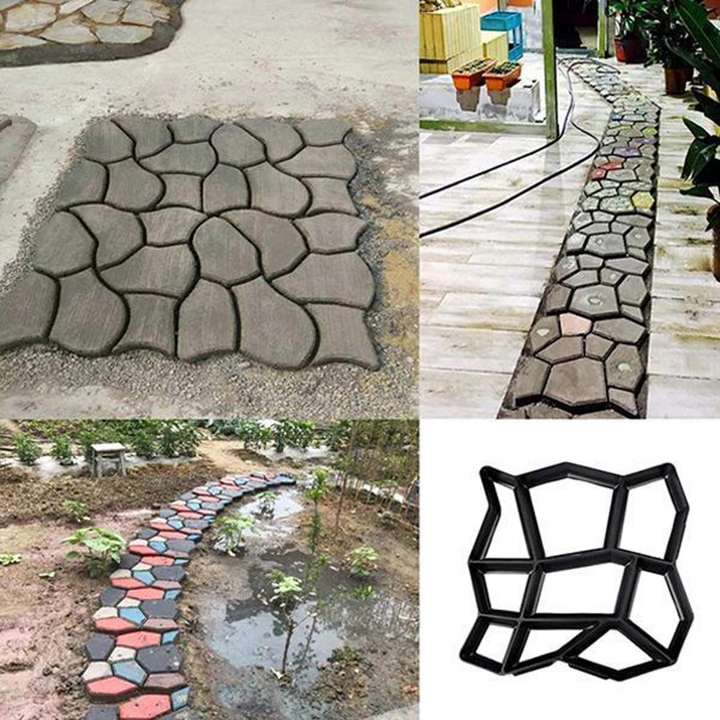 Diy Plastic Path Maker Mold Manually Paving Cement Brick Irregular Molds Garden Stone Road Concrete Molds Pavement For Garden