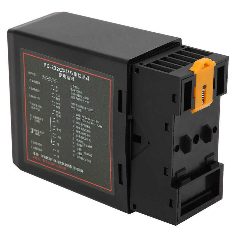 Multímetro PD232 220V de Duplo Canal de Sensor Indutivo Detector de Loop Veículo Veículo Sensor de Loop