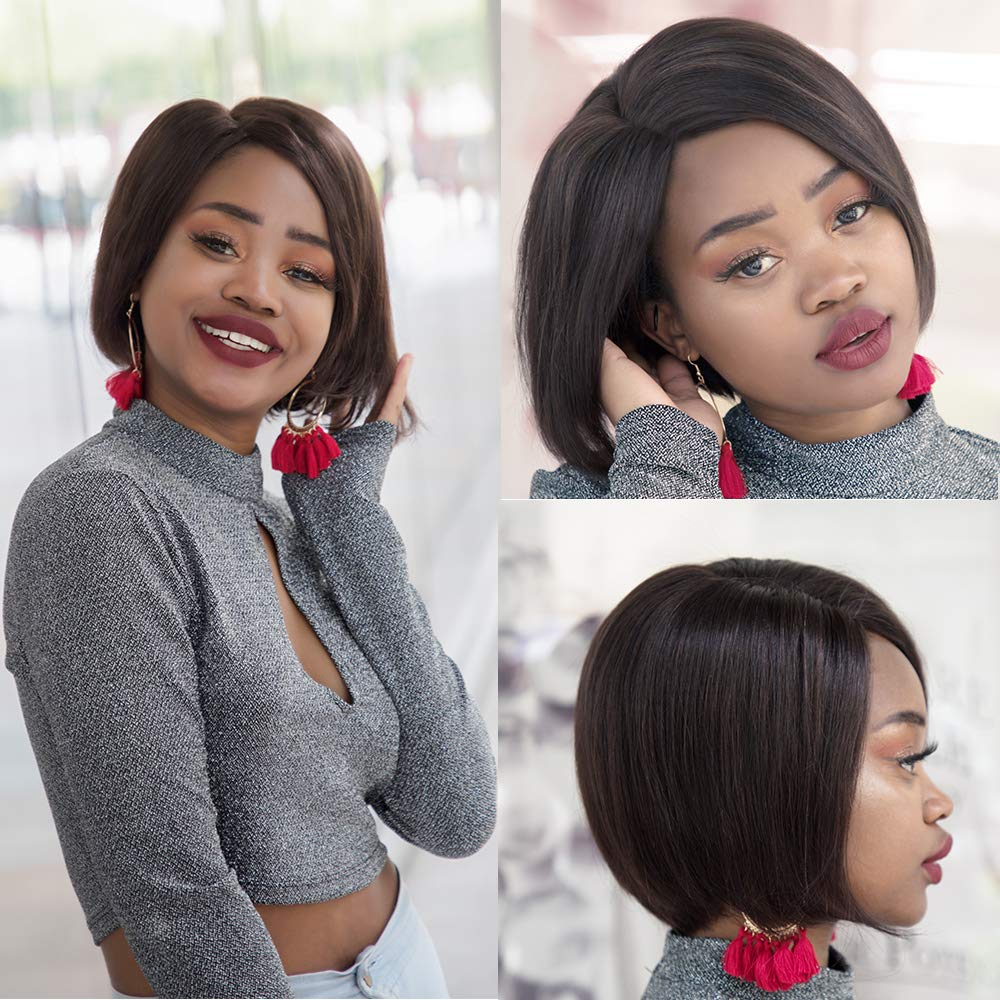 Bob Lace Front Wigs For Black Women Short Human Hair Wig Bob Wigs Straight Natural Hairline Human Hair Wigs