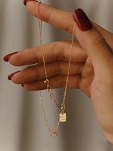 18K Import Solide Gelb Gold Schmuck (AU750) frauen Kette Ins Asymmetrische Design Stilvolle Einfachheit Alle-match Halskette Armband