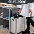 Edelstahl mülleimer Haushalt Klassifizierung Küche Wohnzimmer Haushalt Mülleimer 30L