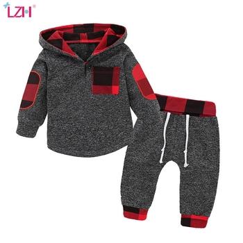 LZH noworodka ubrania jesień wiosna chłopców ubrania bluzy + spodnie 2 sztuk strój garnitur kostium na boże narodzenie odzież dla niemowląt dla dziecka zestaw tanie i dobre opinie Poliester COTTON W wieku 0-6m 7-12m 13-24m 25-36m CN (pochodzenie) Unisex Na co dzień Z kapturem Zestawy Swetry Pełna