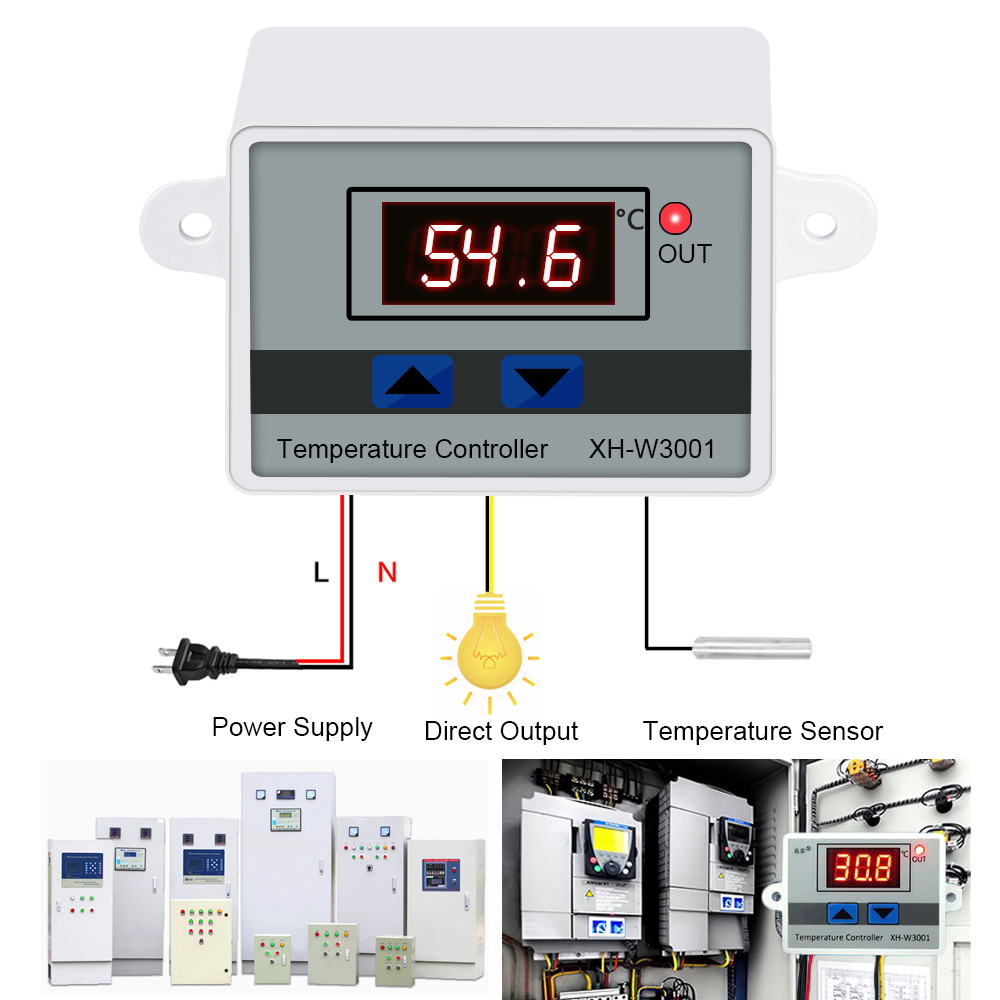 Digital LED Temperature Controller For Incubator  Cooling Heating Switch Thermostat NTC Sensor Temperature Controller Switch Hot