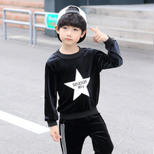 Toddler boys girls clothing set stars long sleeve T shirt Tops+Pants Autumn Winter Children Kids Outfits Clothes Sets недорого