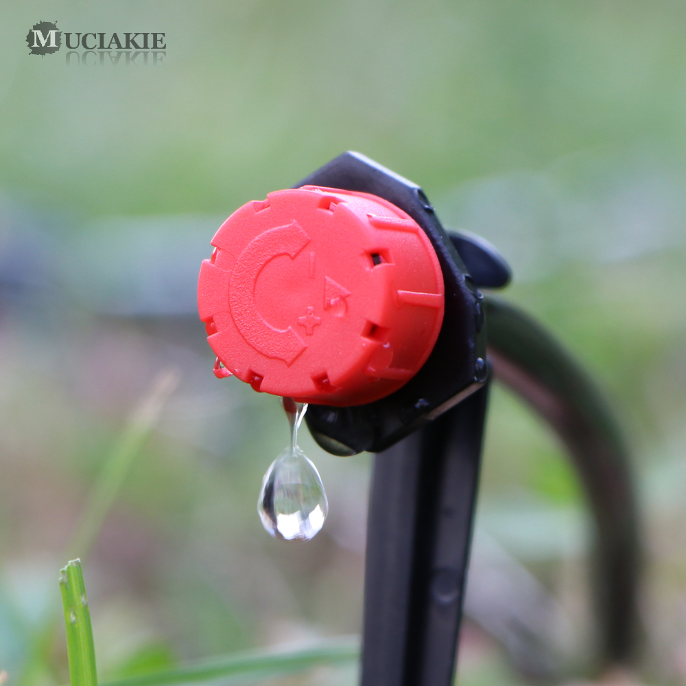 MUCIAKIE 50M-5M DIY Drip Irrigation System Automatic Watering Garden Hose Micro Drip Watering Kits with Adjustable Drippers 5