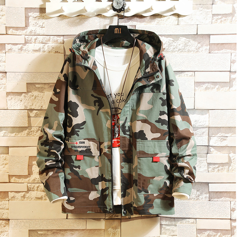 Bomber Jackets Men 2020 Streetwear Windbreaker Korean Casual Camouflage Autumn Spring Baseball Jackets