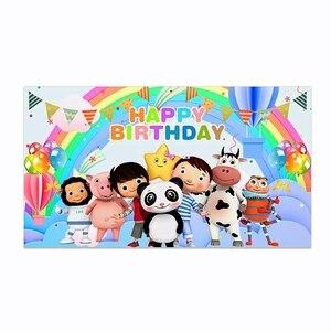 Małe dziecko Bum motyw tła noworodka 1 urodziny fotografia Photobooth tło urodzinowe flaga Banner