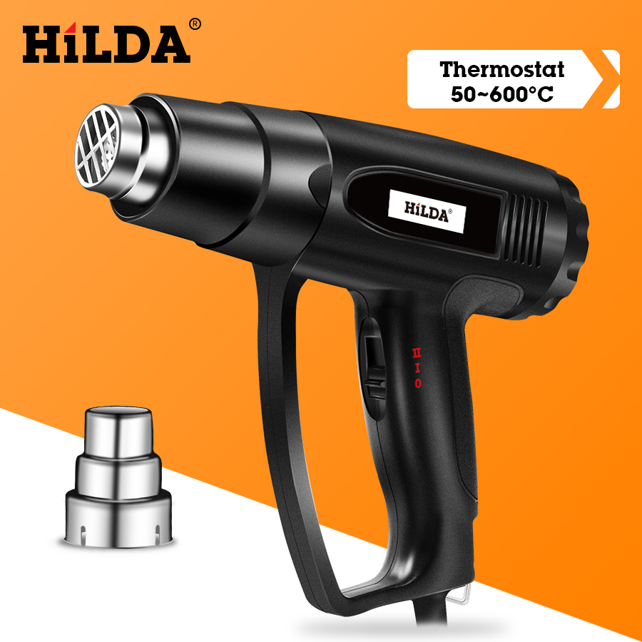 HILDA Heat Gun With Adjustable 2 Temperatures Advanced Electric Hot Air Gun 220V Power Tool 1800W/2000W