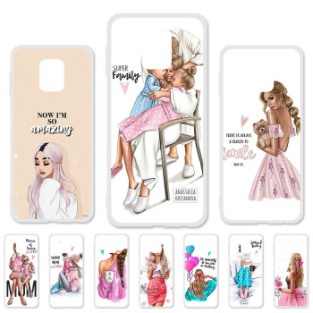 цена на Phone Case For Xiaomi Redmi Note 8 Pro Girl Baby Women Mom Silicone Back Cover For Xiaomi Redmi Note 8T 7 6 3 8A 7A 6A 6 Fundas