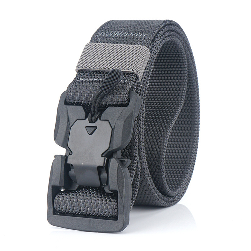 2020 Belt For Men Magnetic Buckle Casual Jeans Belts Light Military Tactical Designer Nylon Belt Male Fashion Strap High Quality